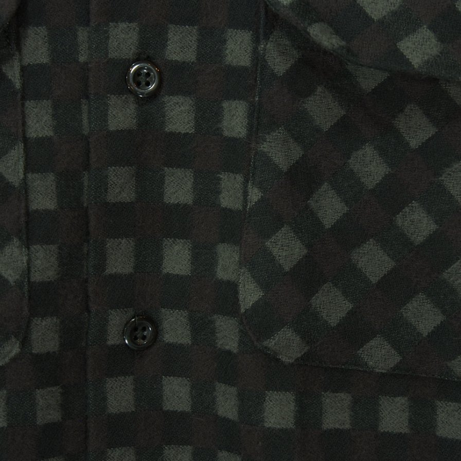 Engineered Garments エンジニアドガーメンツ - Classic Shirt - Vintage Check - Black / Brown