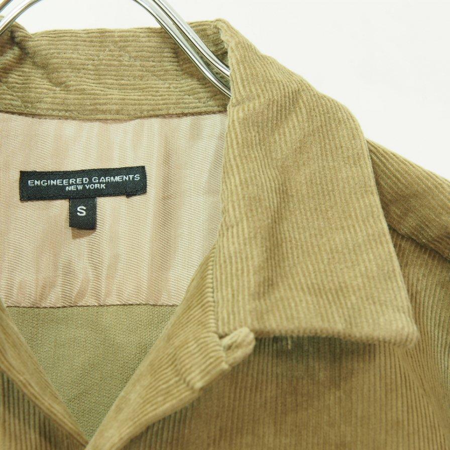 Engineered Garments エンジニアドガーメンツ - Classic Shirt - 14W Corduroy - Khaki
