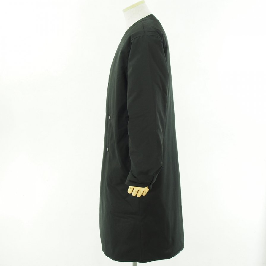 South2 West8 サウスツーウエストエイト - V Neck Down Coat - C/Pe Twill - Black