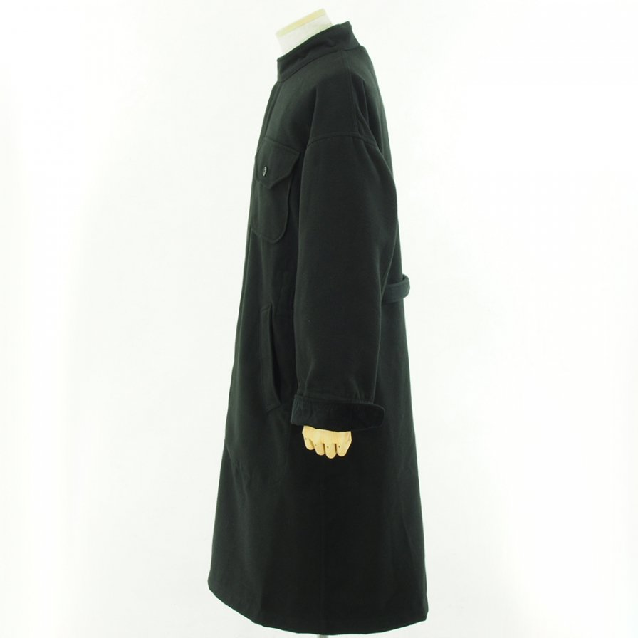 Engineered Garments エンジニアドガーメンツ - MG Coat - Fake Melton - Black