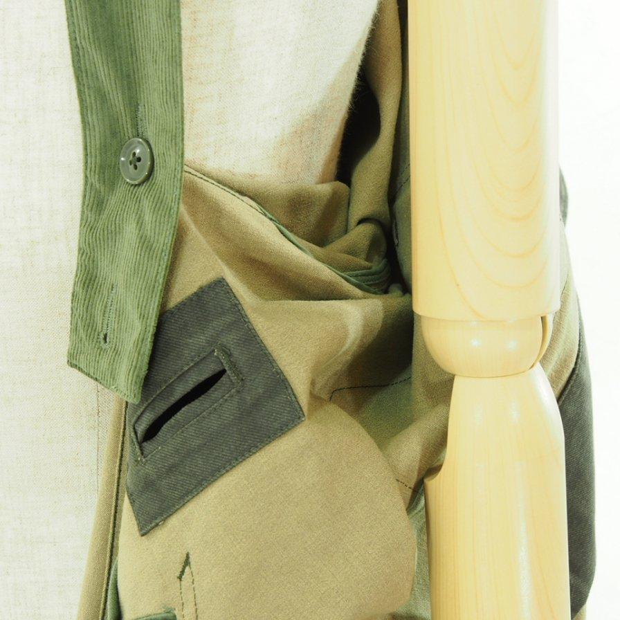 Engineered Garments エンジニアドガーメンツ - MG Coat - Coated Twill - Dk.Olive