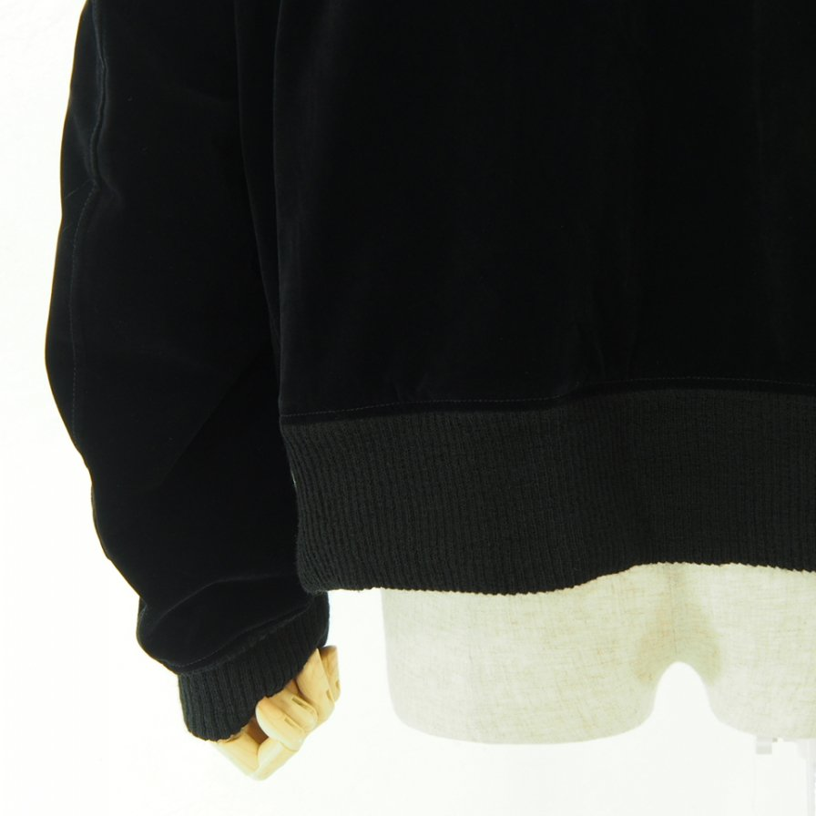 Engineered Garments エンジニアドガーメンツ - SVR Jacket W/Tape - Flocked Velveteen - Black