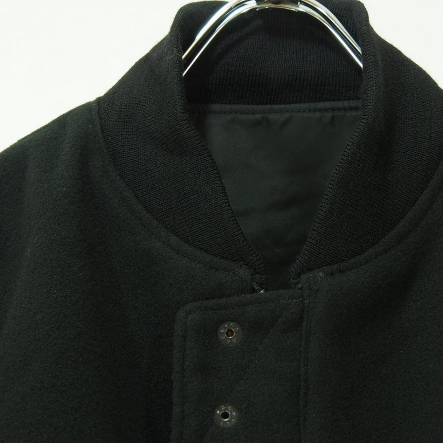 Engineered Garments エンジニアドガーメンツ - SVR Jacket W/Tape - Flight Satin - Black