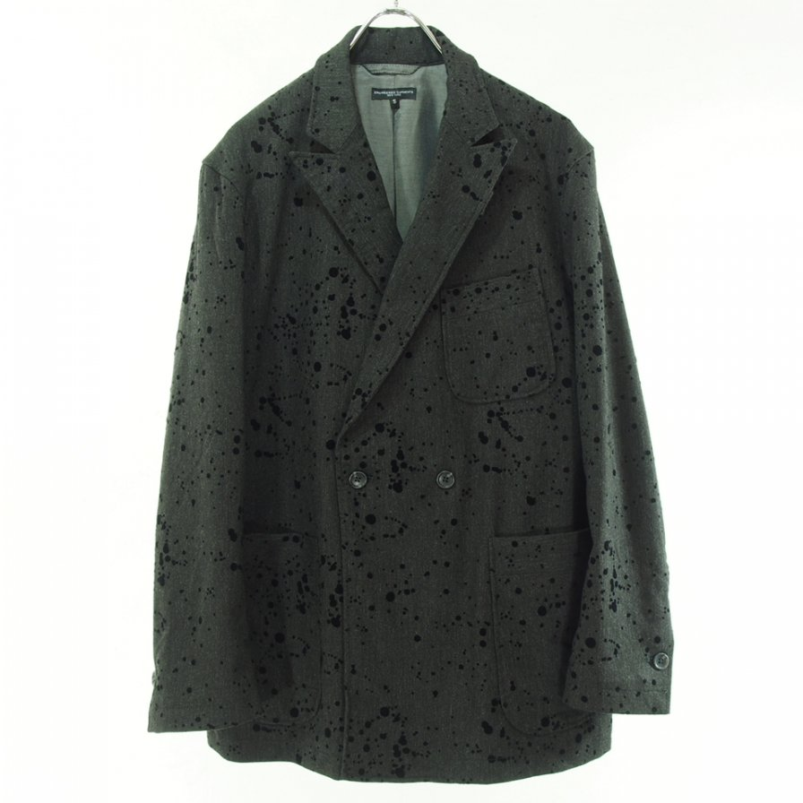 Engineered Garments エンジニアドガーメンツ - Newport Jacket - Flocking Splatter - Charcoal