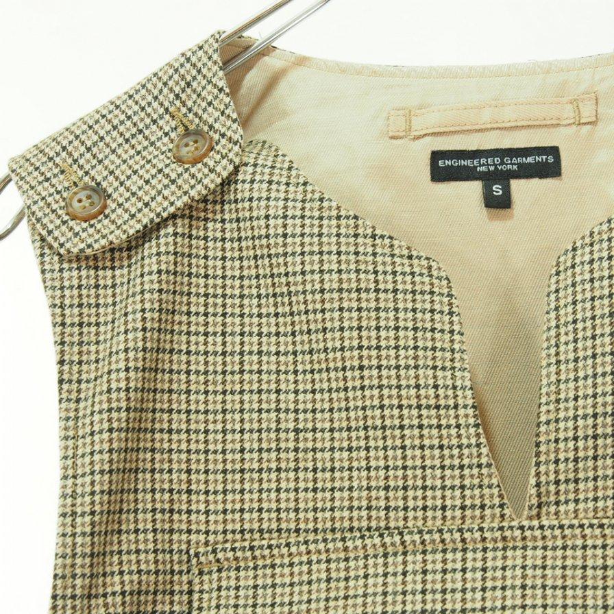 Engineered Garments エンジニアドガーメンツ - Cover Vest - Gunclub Check - Brown