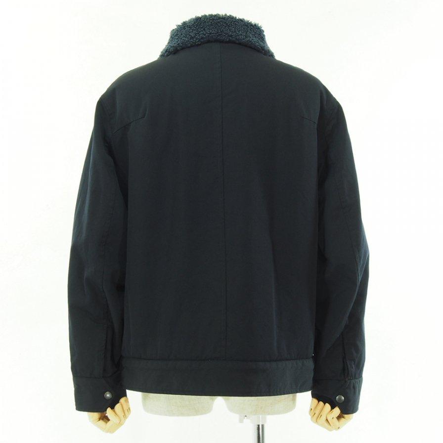 ts(s) ティーエスエス - Zip Front Bomber Jacket - High Density Wool Gabardine Cloth - Navy
