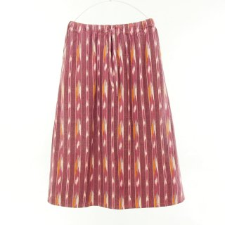 South2 West8 Woman サウスツーウエストエイトウォメン - String Skirt - Ikat Pattern - Red
