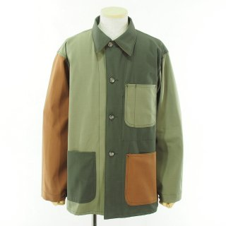 EG WORKADAY イージーワーカデイ - Utility Jacket Combo - Cotton Ripstop - Olive