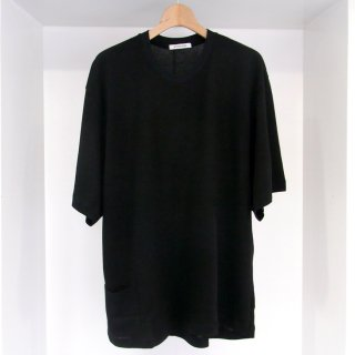 LYOCELL / COTTON JERSEY ASYMMETRY DRAPE CREW