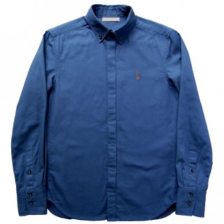 OX FLY-FRONT B.D. SHIRT BLUE