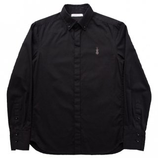 OX FLY-FRONT B.D. SHIRT BLACK