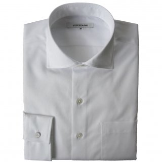 100/2 BROAD HORIZONTAL COLLAR SHIRT WHITE