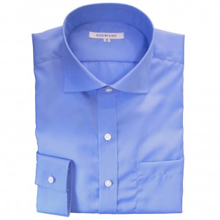 100/2 BROAD HORIZONTAL COLLAR SHIRT BLUE