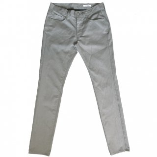 COTTON / POLYESTER STRETCH GABARDINE 5POCKETS PANTS GRAY