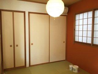 壁を一面だけ塗り替えてお洒落なお部屋に!和室編
