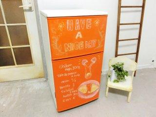 黒板塗料絵を塗ってメモやメニューが描ける便利でおしゃれな冷蔵庫にリメイク