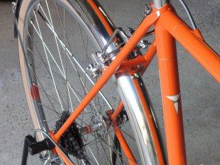こだわりの自転車のマッドガードに自分で線引きした事例