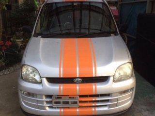 スバル プレオバンにセレンゲッティオレンジで刷毛塗りでライン塗装