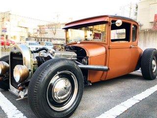 1929fordcoupeをラストカラーで刷毛塗り全塗装!