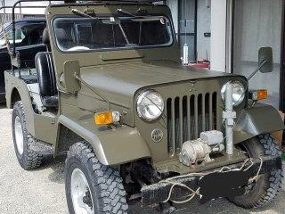 Jeepをオリーブドラブで刷毛塗り全塗装!