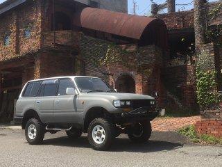 トヨタ ランドクルーザー80をフレンチグレーで全塗装!