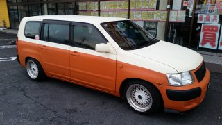 トヨタ サクシードをセレンゲッティオレンジで全塗装!