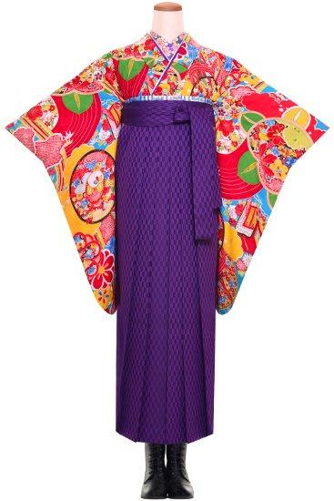 卒業式 袴 アンティーク着物レンタル ☆ 【古典ポップ】【SH0017】