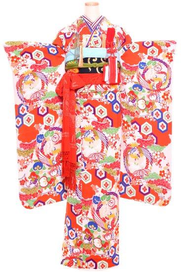 婚礼 花嫁 アンティーク着物 アンティーク振袖レンタル ☆ 【紅白鳳凰】