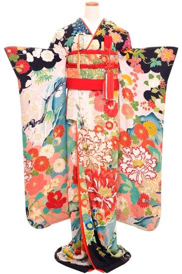 婚礼 花嫁 引き振袖 アンティーク振袖レンタル☆ 【牡丹】
