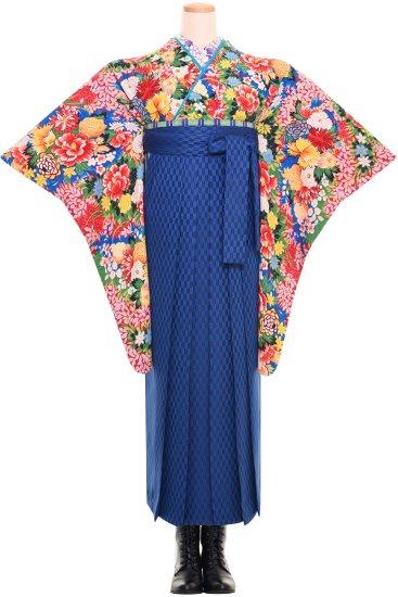 卒業式 アンティーク着物レンタル 【牡丹薔薇菊】