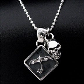 【TSC×UMBRELLA】 Umbrella & TSC crying skull - pendant