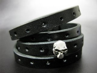 ��TRANSCORE�� TSC Leather Bracelet - Skull