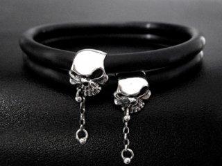 【TRANSCORE】 A.K.I. Skull Rubber Bracelet
