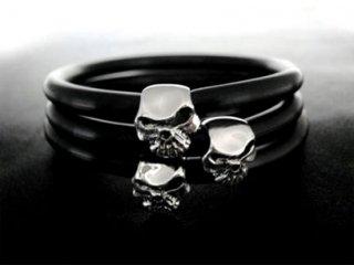 【TRANSCORE】 TSC SKULL Rubber Bracelet
