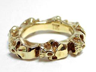 Roundskull Ring (18K Yellow Gold) / 13号