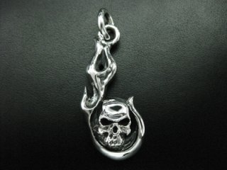 【TRANSCORE】 Fireball Skull Pendant-Top