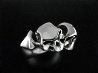 【TCR-024】【TRANSCORE】 Two Faces Bat Skull Ring