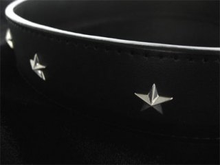 【TRANSCORE】 Star studs Leather Belt