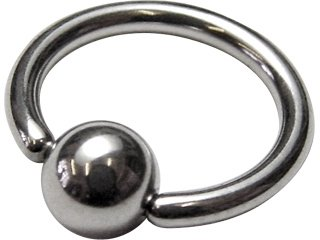 Implantation Steel Ball Closure Ring 14G