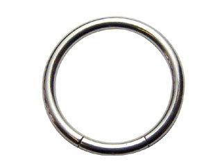 【XSR-14G】Titanium Smooth Segment Rings 14G
