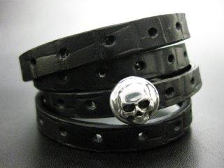 【TRANSCORE】 TSC Leather Bracelet - Skull Con.