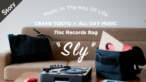 CARNK TOKYO×ALL DAY MUSIC 7inc Records Bag -Sly-