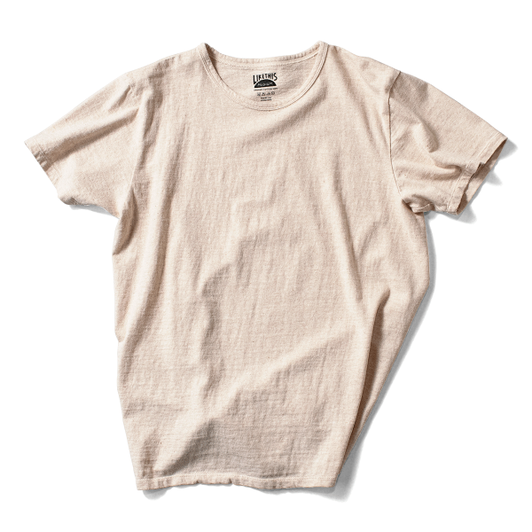 Organic Cotton Loop Wheel Tee - Natural