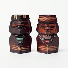 Vintage Object : Wooden Ainu Doll