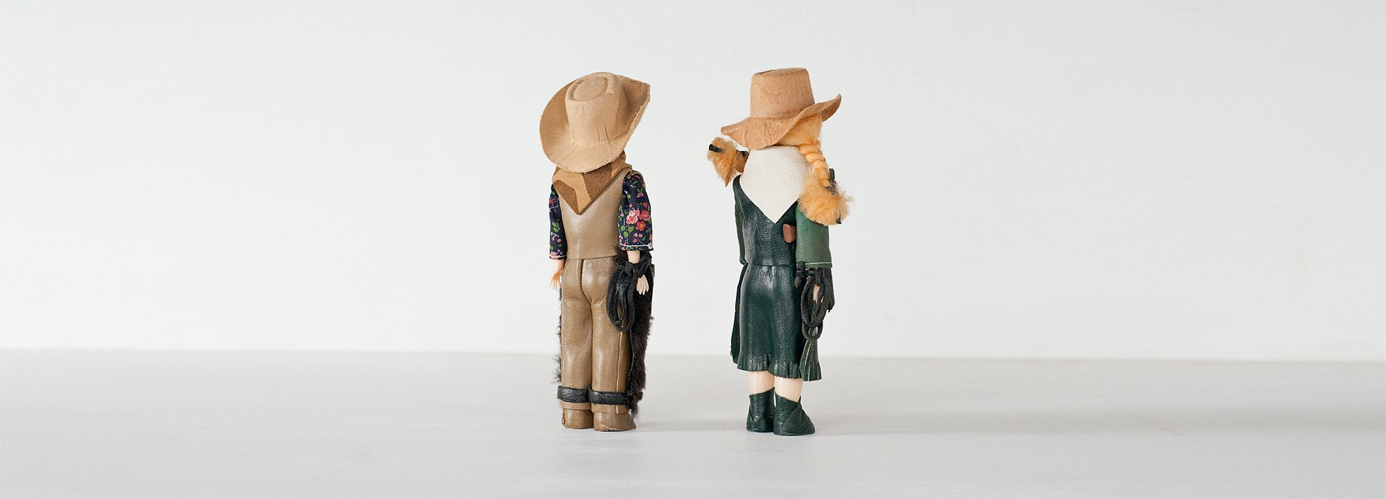 Vintage Object : Cow Boy & Cow Girl