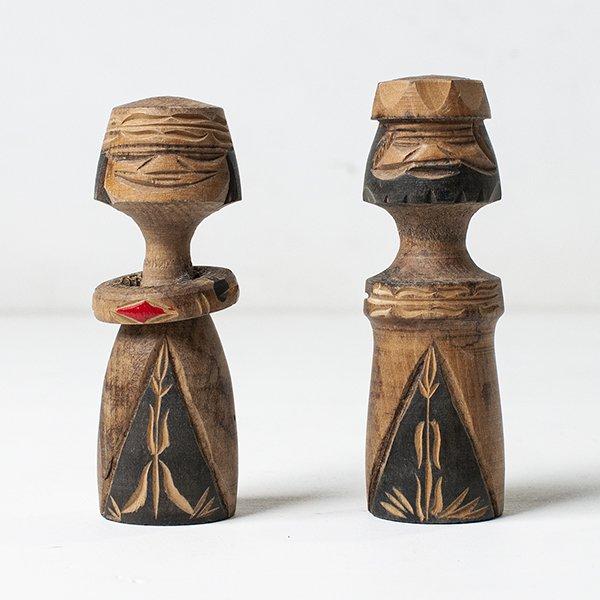 Vintage Object : 木彫り アイヌこけし