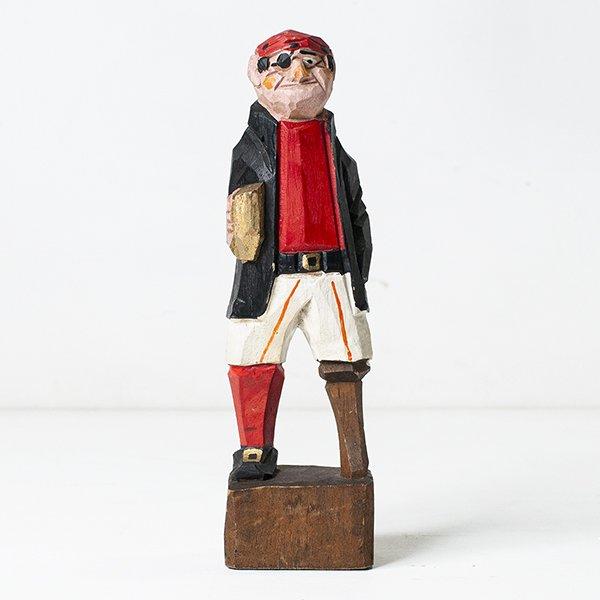 Vintage Object : Wooden Sailor Doll