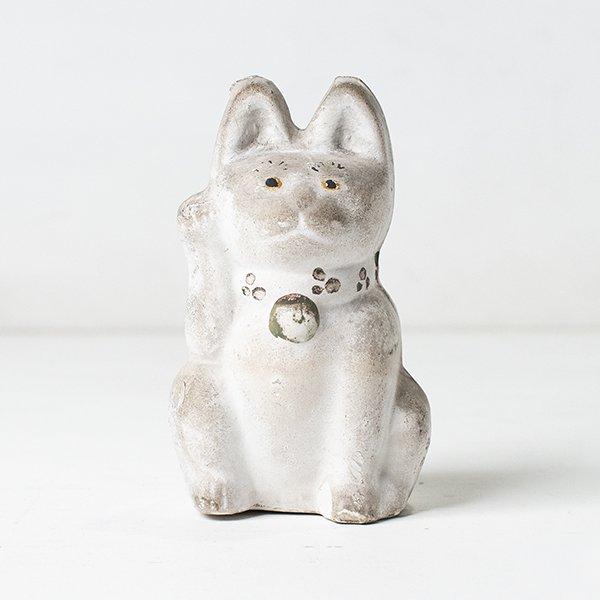 Vintage Object : 土人形 招き猫