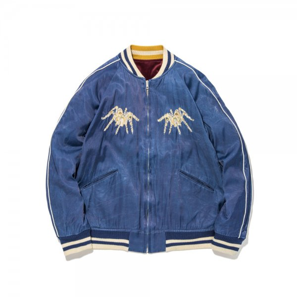 GOLDISH SPIDER WEB SOUVENIR JACKET INDIGO