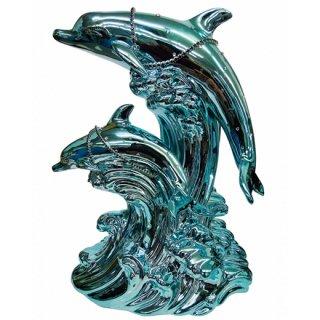 ドルフィン ブランデー|フラッシュブルードルフィン(エメラルドアイズ)(イルカ 2匹版)40% 500ml